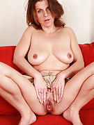 All real housewife Patris takes on peek-a-boo together with her adult pussy
