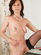 All-natural titted office MILF Jenny H after 30 plus Ladies chews her knickers