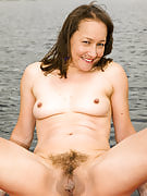Hairy pussied Carla after 30 plus Ladies spreads the lady thighs while sailing