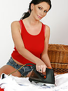 She truly the lady housework them takes on with her big breasts