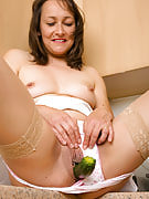 45 yr old Carla confirms a cucumber is not just good in salad