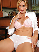 Jodi D from 30 plus Ladies strips and additionally put after finishing the dusting