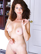 Very long haired brunette MILF Madison shows away the lady hot body