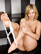 Horse loving MILF Laurita after 30 plus Ladies strips after her ride