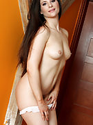 Tall MILF Jessica displays hot and additionally hairy lifelike crotch for you