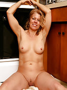 Blonde mature housewife Lauren E gets up and additionally dirty in your kitchen