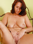 45 year older housewife Demi after 30 plus Ladies spreads wide on the lady chair