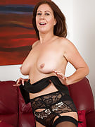 47 year old Carol Foxwell comes back from work in time in order to get nude