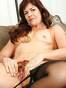 Stylish MILF Andie after AllOver 30 spreads her tight furry vagina
