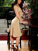 34 yr old Lily slips off her elegant performances and dress away the lady body shape