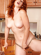 32 year older redhead from 30 plus Ladies enjoys her coffee nude